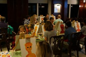 Wine & Paint night on the Fathom Adonia