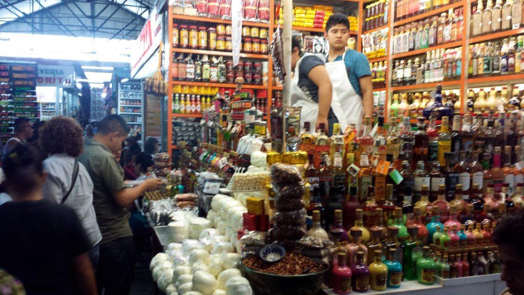 The 20 de Noviembre market Oaxaca has many local products for sale