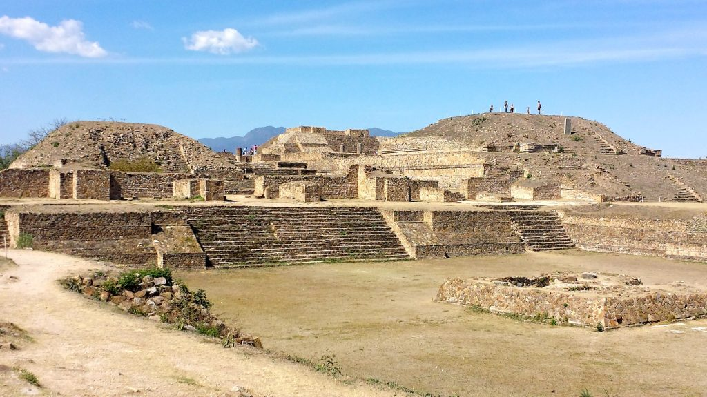 The Monte Alban ruins in Oaxaca were once the political center of this ancient empire