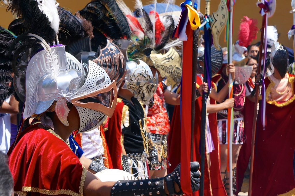 Roman soldiers during Semana Santa in Oaxaca