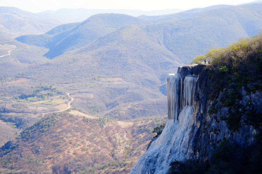 Hierve de Agua near Oaxaca is one of the only petrified waterfalls in the world and one of the best things to do in Oaxaca