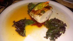 Seafood dish at Casa Oaxaca Restaurant which had a creative menu and fair prices