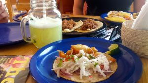 Pez fish tacos for lunch in Oaxaca Mexico