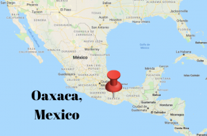map of Mexico showing location of Oaxaca