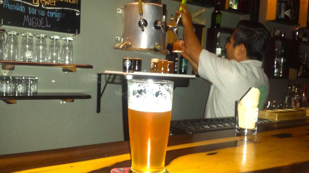 Santisima Flor de Lupulo is a brewpub with home-brewed craft beer in Oaxaca