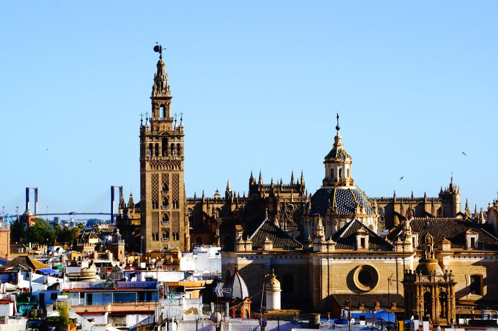Seville skyline with cathedral