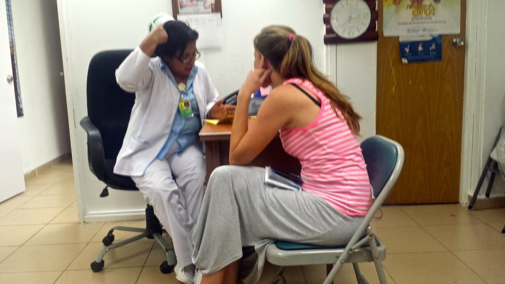 getting yellow fever vaccination in Panama City to get ready for an Oasis Overland 56-day safari across Africa