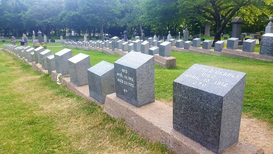 Fairview Lawn Cemetery Halifax Titanic Tombstones