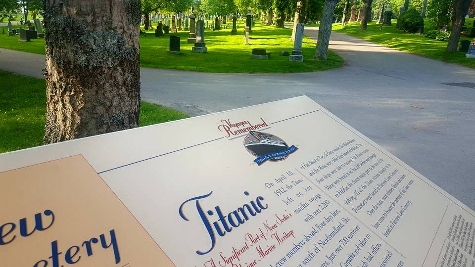 Fairview Lawn Cemetery Halifax Titanic Sign