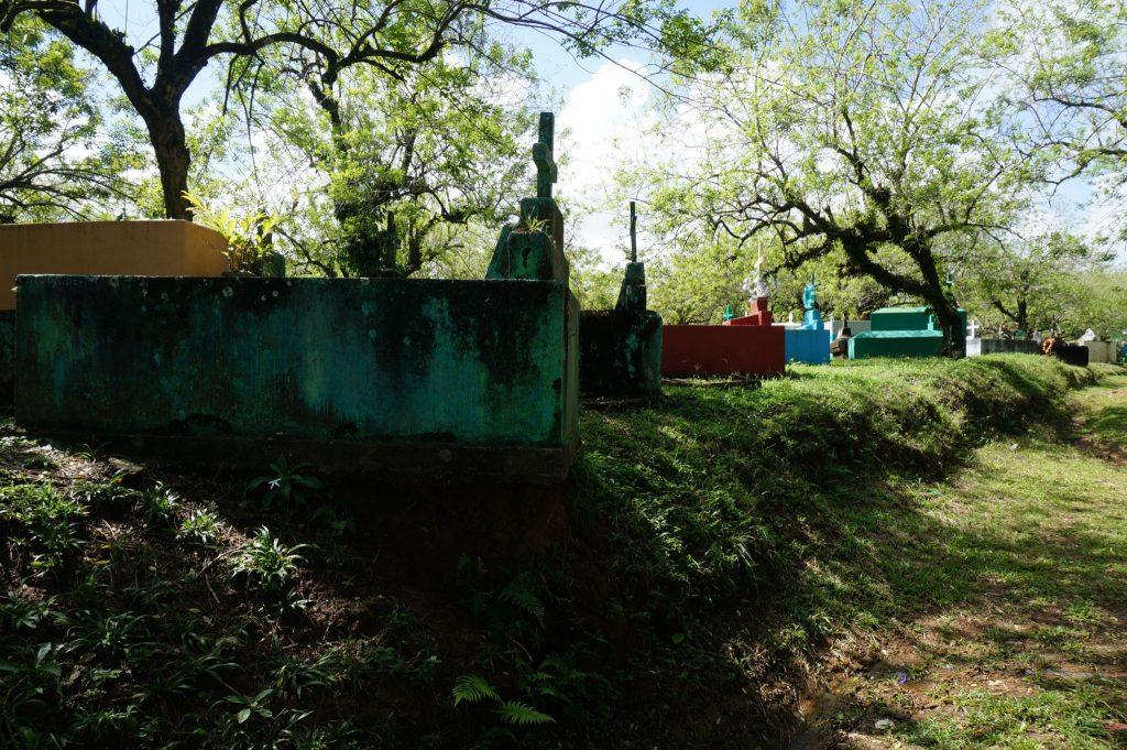 aboveground cemetary in Livingston Guatemala