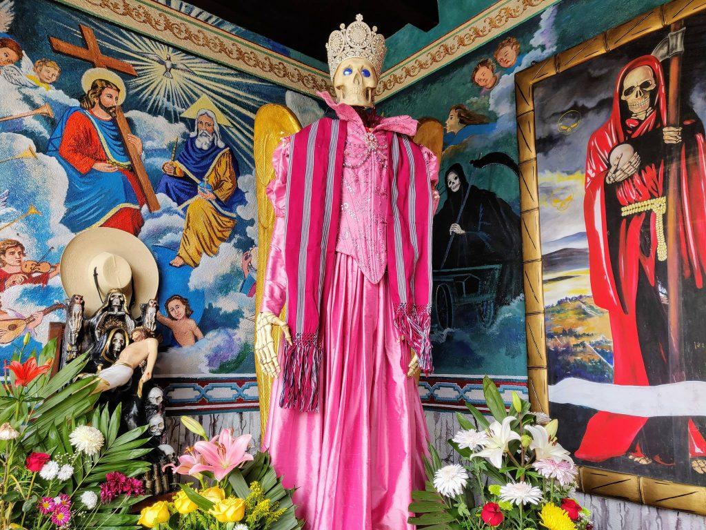 Temple of Santa Muerte near Patzcuaro Mexico