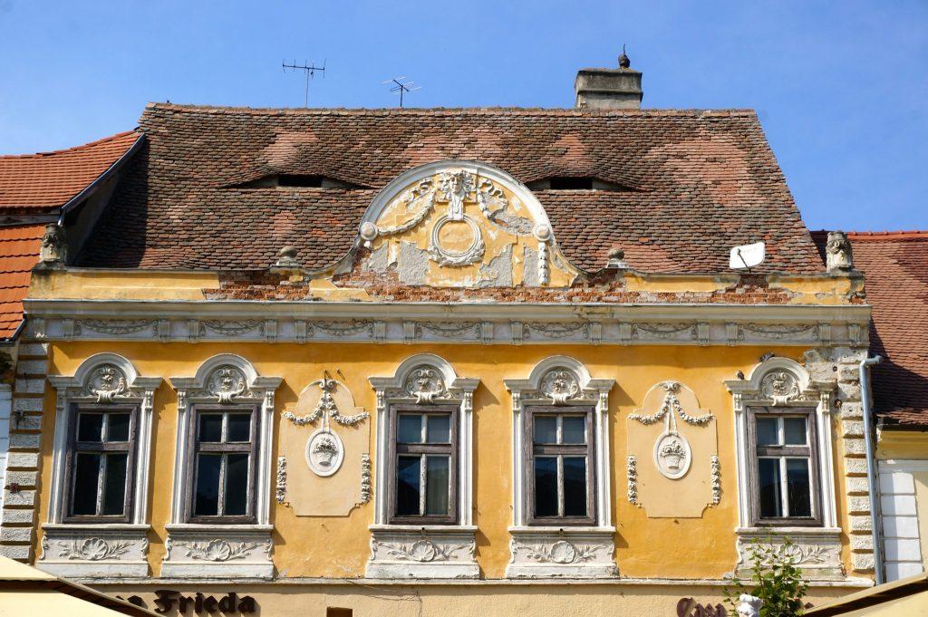 the buildings have eyes in sibiu transylvania Romania
