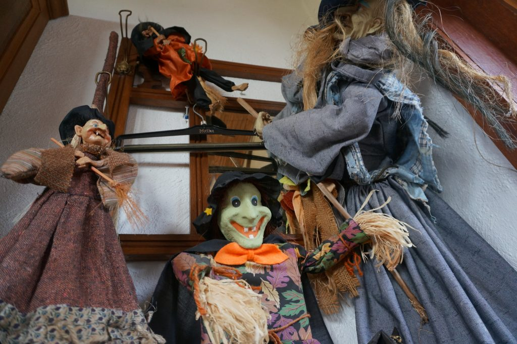 witch decorations from a bar in Belgium near Popringe