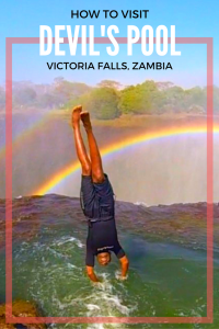 How To Visit Devils Pool Victoria Falls Africa