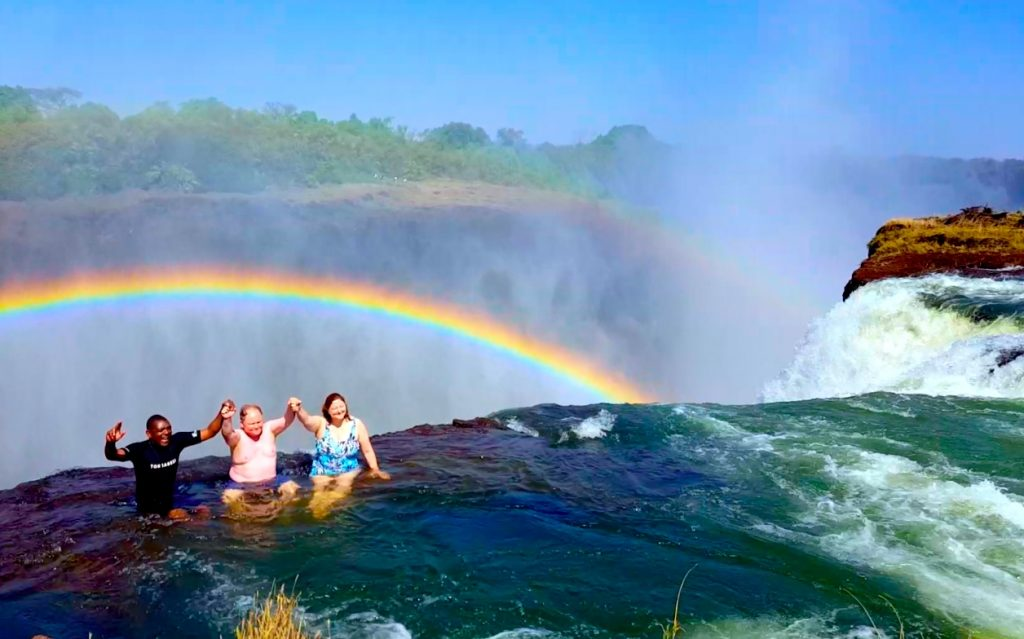 Older people in Devil's Pool Victoria Falls