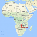 Map of Africa with location of Devil's Pool Victoria Falls
