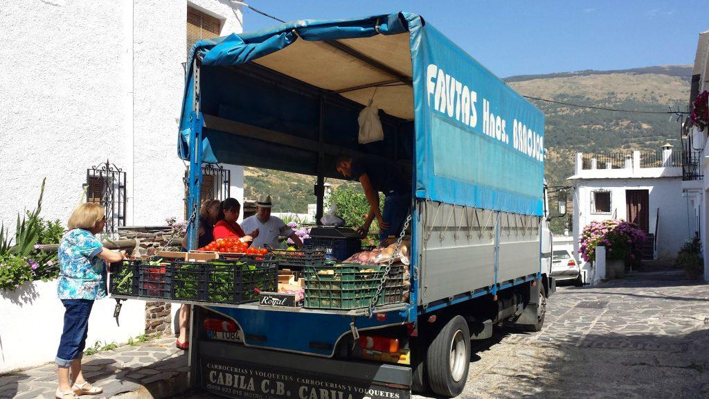 produce truck bubion spain