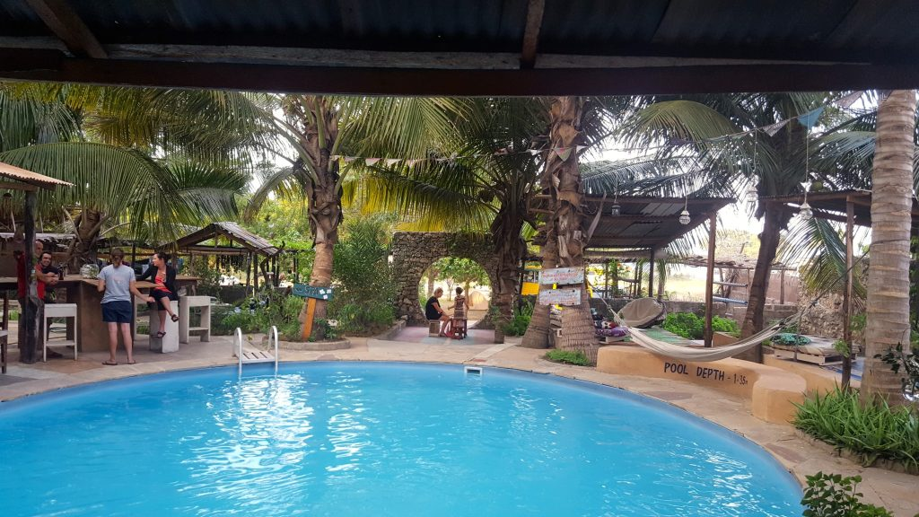 Pool at bagamoyo tanzania campsite during our Oasis Overland Africa Coast to Coast trip