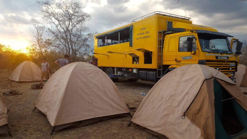 Bush Camping with Oasis Overland truck in Tanzania