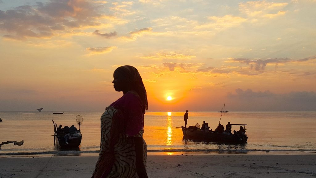 Bagamoyo Beach at sunrise