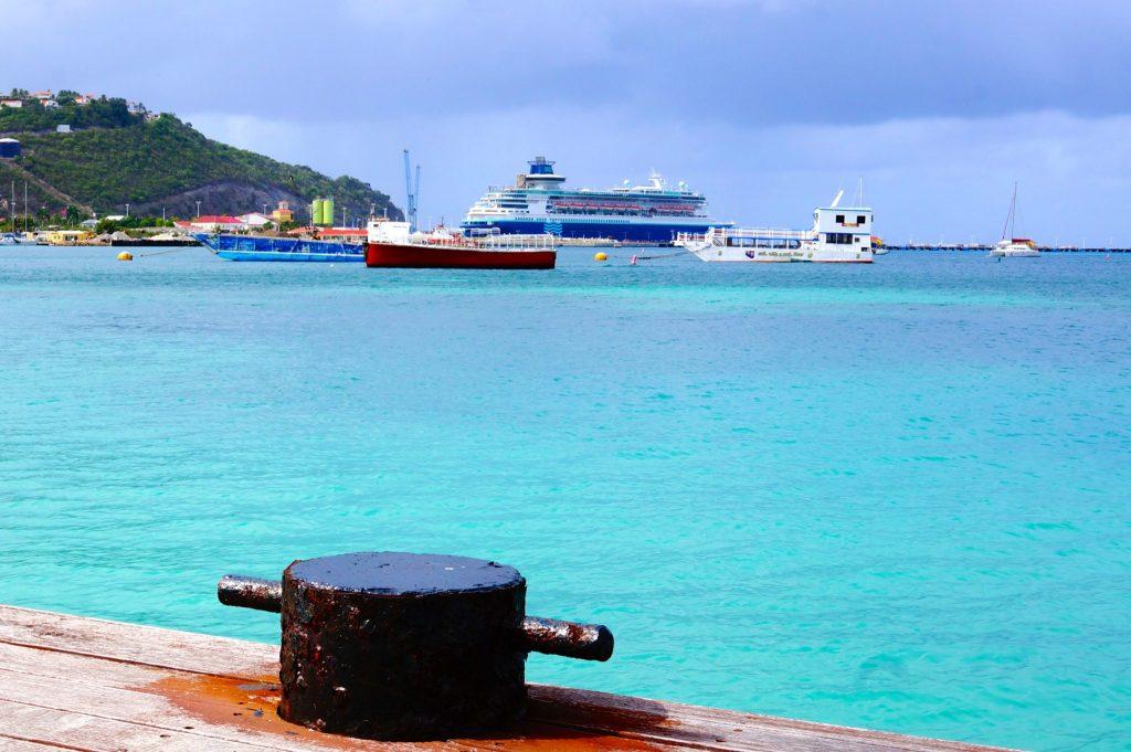 Pullmantur Monarch docked in St Maarten