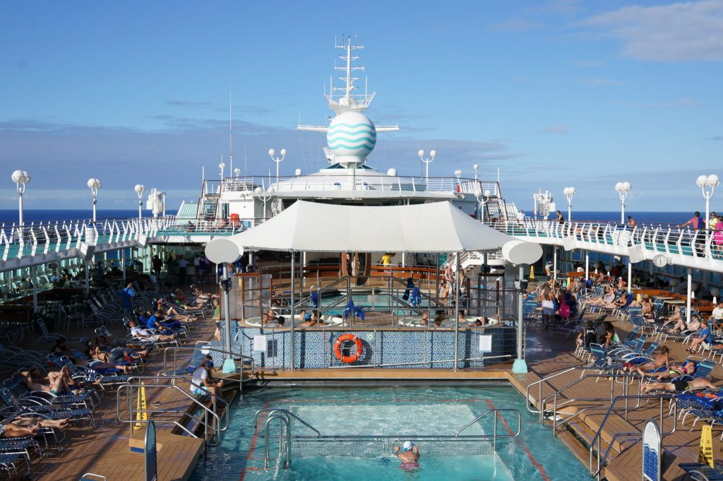 Pullmantur Monarch ship deck and pool