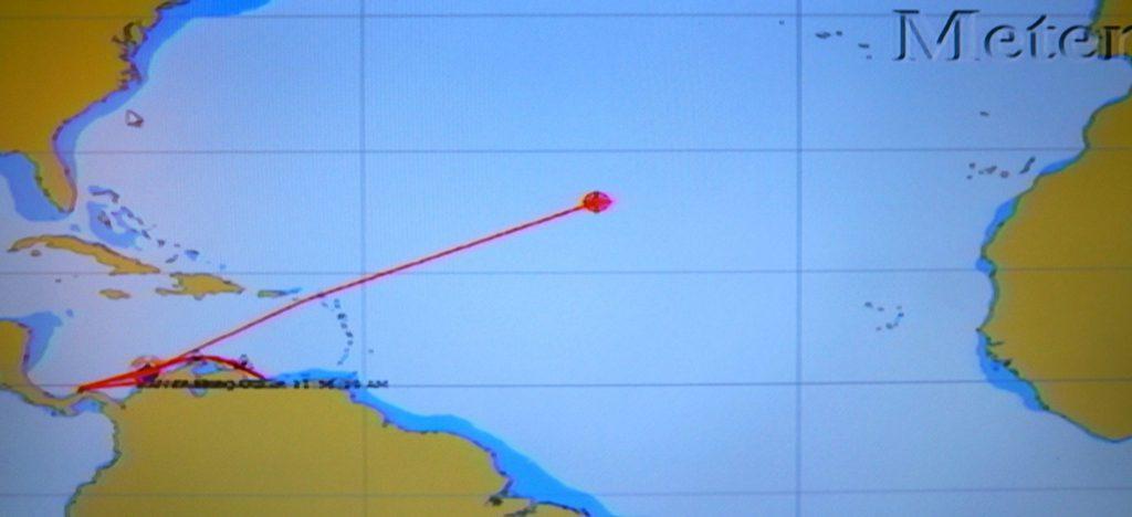 Pullmantur Monarch transatlantic itinerary map
