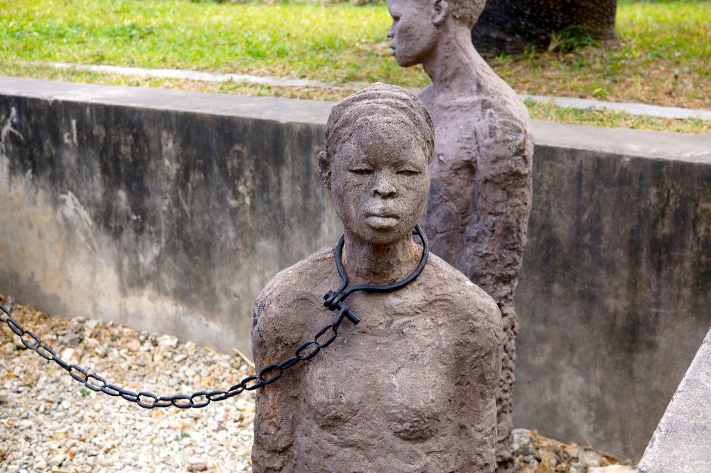slavery monument in Stone Town Zanzibar