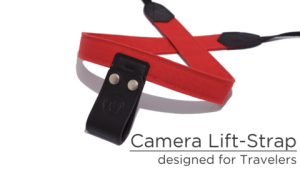 Camera lift strap to relieve camera tension from your neck
