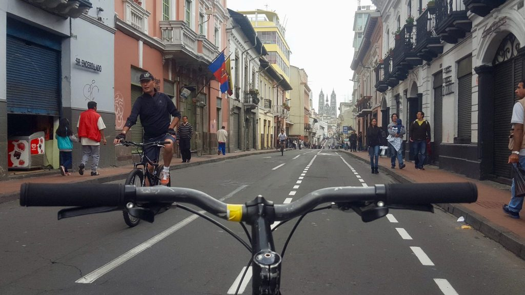 Ciclopaseo Sunday Bike Ride in Quito Ecuador is one of the best things to do in Quito on a Sunday