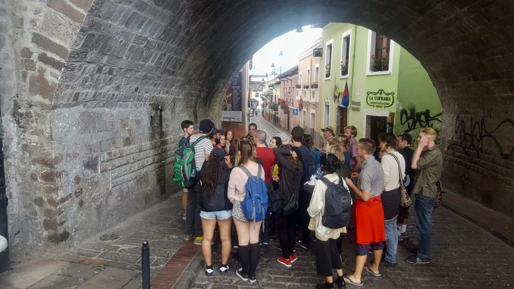The Walking tour is Quito is one of the great free things to do in Quito that we recommend doing towards the beginning of your trip