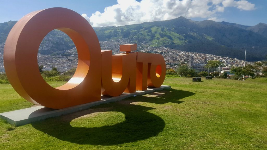 Big Red Quito sign at Itchimbía