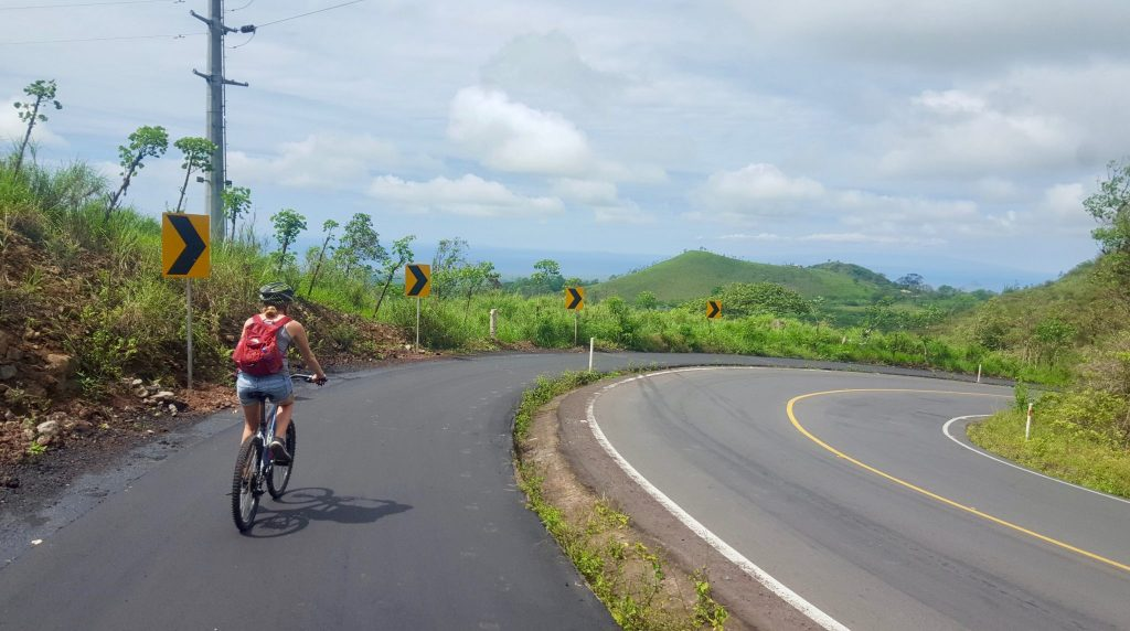 Bike riding in Puerto Ayora is a great free activity in the Galapagos for DIY independent travel