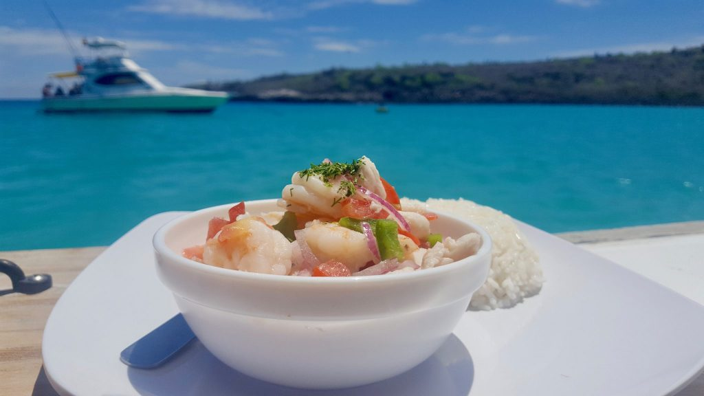 Ceviche is included on the Santa Fe Galapagos day tour