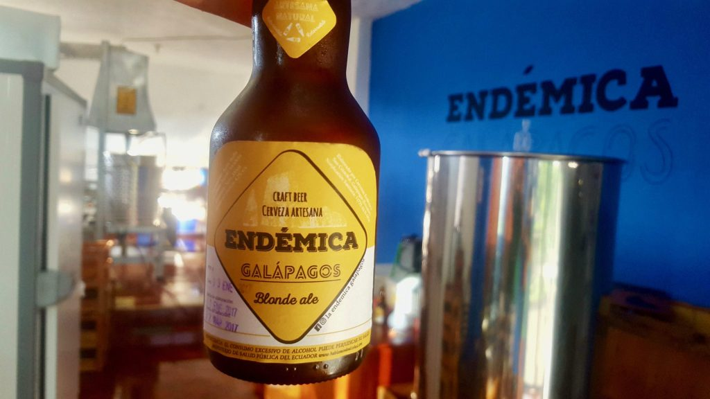 Endemica is a craft beer in the galapagos on San Cristobal
