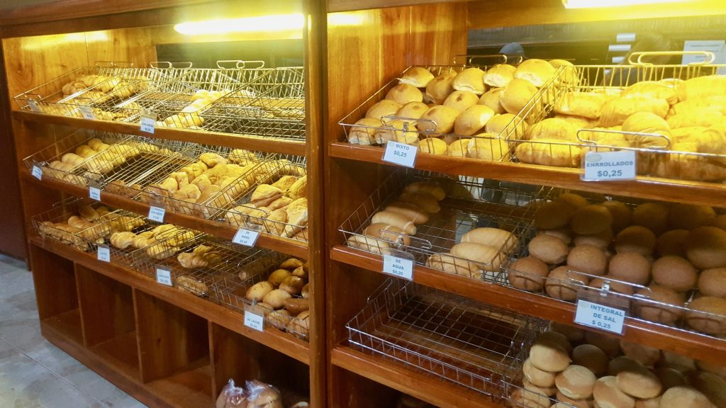 Pasteries are a good budget breakfast in the Galapagos such as the Sabor Cuencano bakery