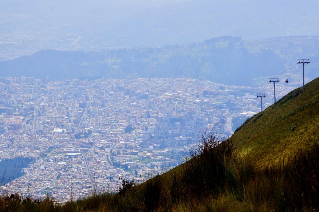Quito TeleferiQo cable car to the Andes Mountains
