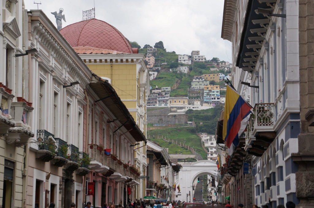 Wandering around the streets of is one of the things to do in Quito Old Town
