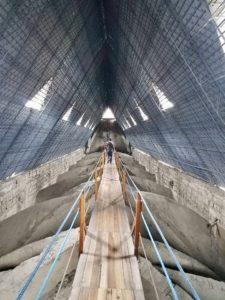 Basilica del Voto Nacional wooden plank walkway