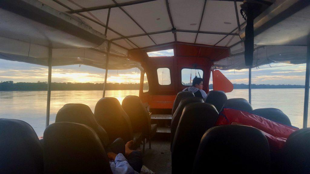 Napo river fast boat Pantoja to Iquitos Peru