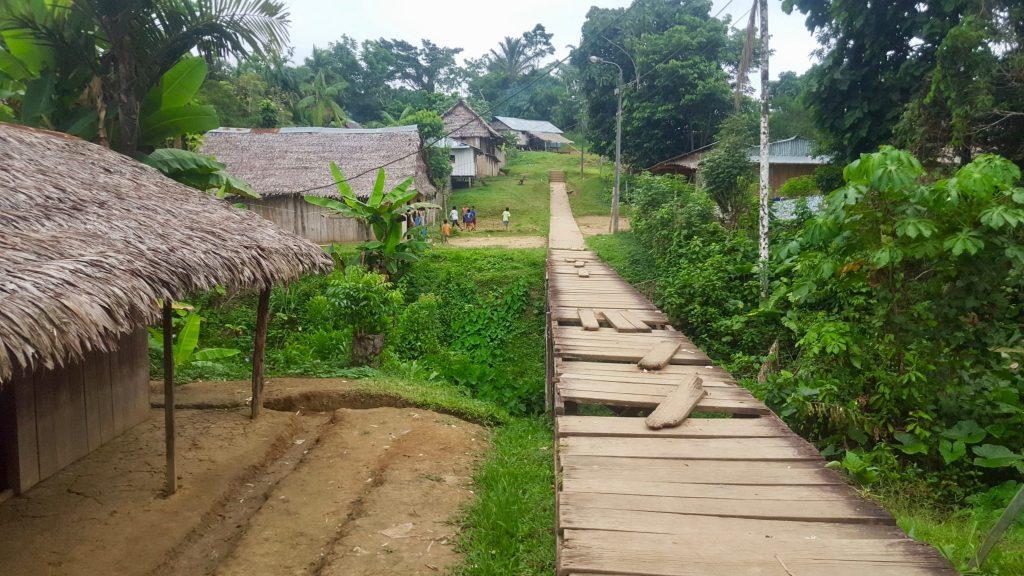 Santa Coltilde Peru Amazon Village on the Napo River