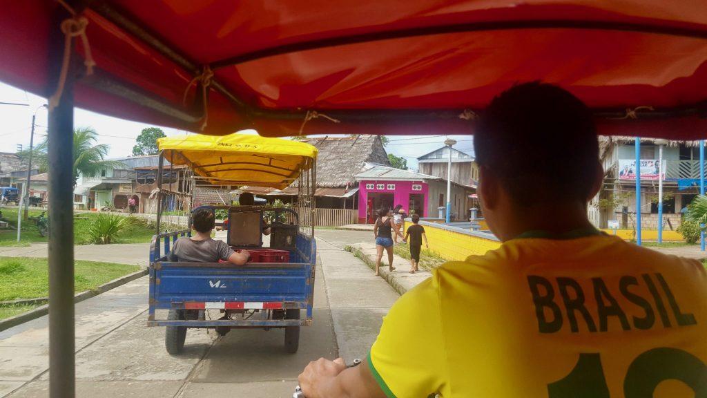 Motorbike ride shortcut in Mazan from Napo to Amazon River