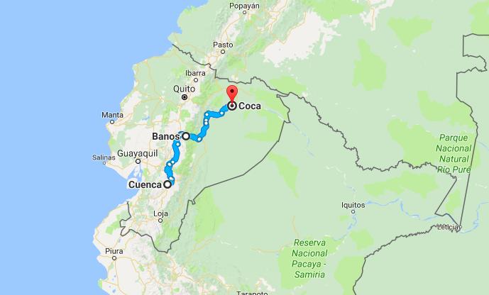 Cuenca to Coca Ecuador