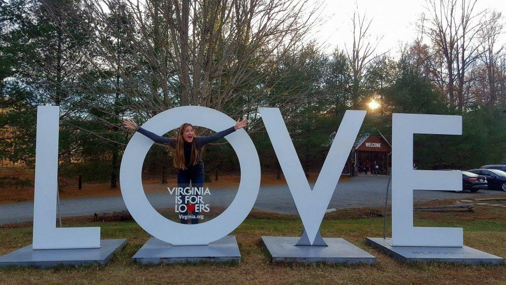 Love Virginia sign in Charlottesville