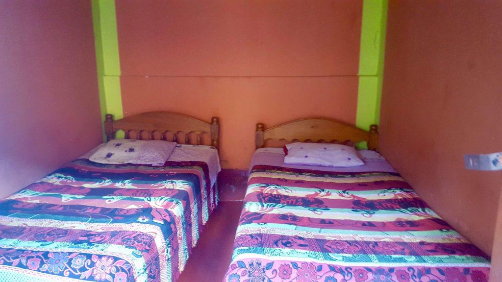 basic accommodation in Santa Marta Peru during Jungle Trek to Machu Picchu