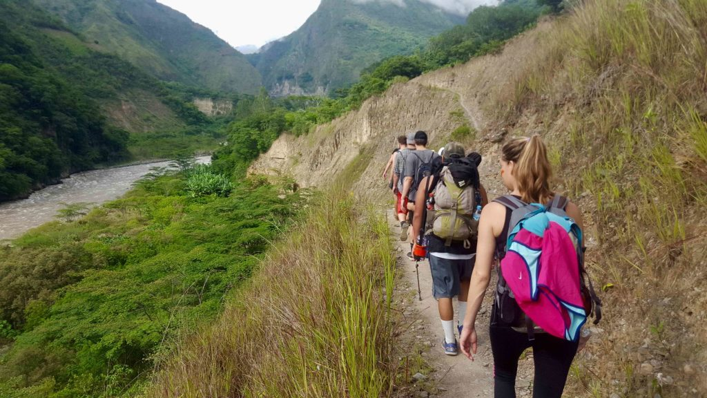 Hikers on the Jungle Trek to Machu Picchu