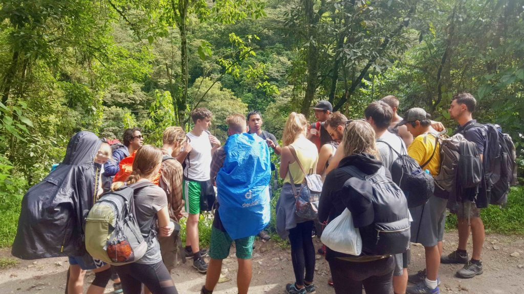Jungle Trek guide giving lecture and information