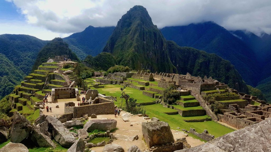 Machu Picchu with few tourists