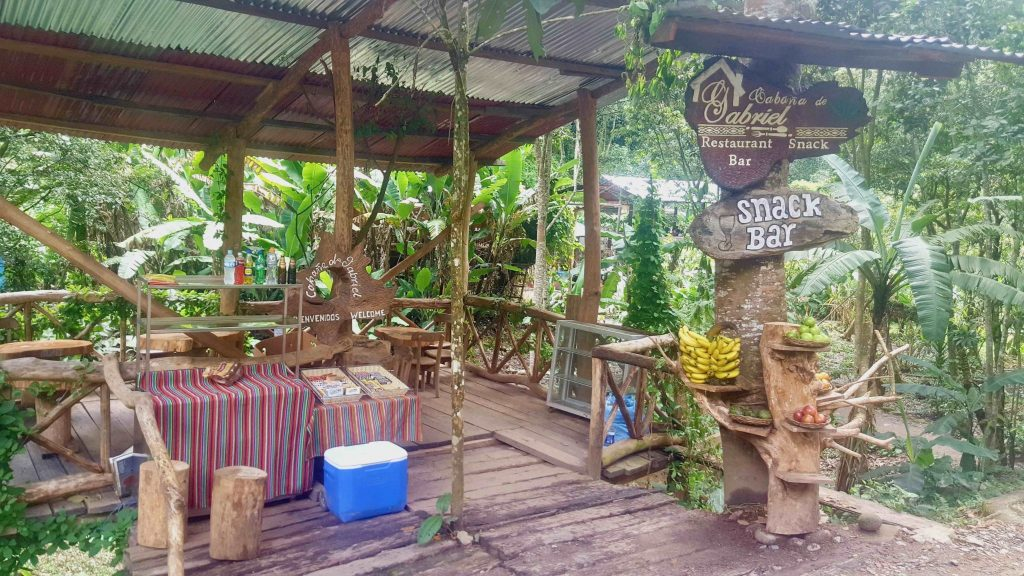 You can find random shops like this along during the Jungle Trek to refuel on water and snacks.