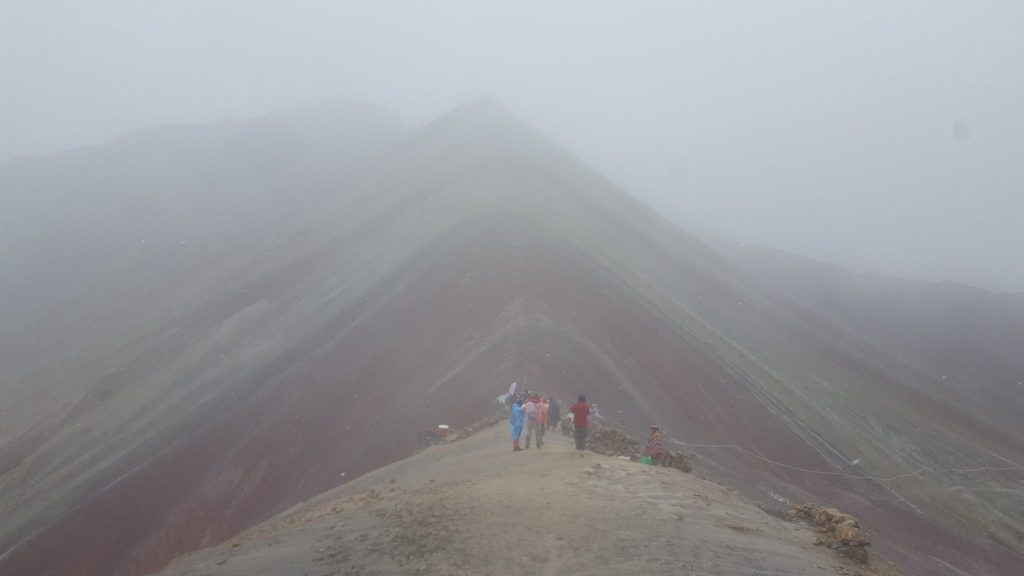 Rainbow Mountain Peru in the snow